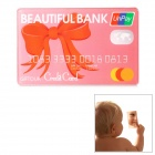 Credit Card Style Acrylic Make-up Mirror - Red