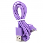 USB to 8-Pin Lightning / 30-Pin / Micro USB Data/Charging Cable for iPhone 5 / 4S / Samsung - Purple