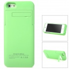 2200mAh Rechargeable Li-ion Polymer Battery Back Case w/ Holder for iPhone 5 - Green