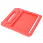 Thick Shockproof Plastic Back Case w/ 180 Degree Rotatable Handle / Holder for Ipad 2 / 3 / 4 - Red