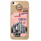 Bus Stamp Style Protective Plastic Back Case for Iphone 5 - Multicolor