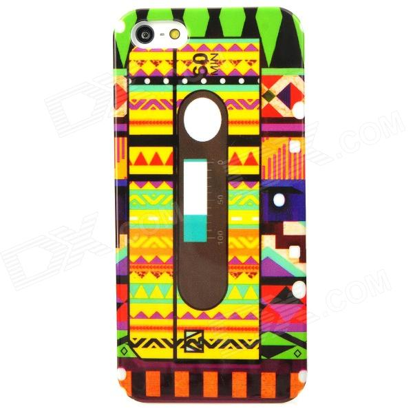 все цены на  Colorful Cassette Tape Style Protective Plastic Back Case for Iphone 5 - Multicolor  онлайн