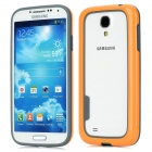 Baseus Fashion TPU + PC Bumper Frame for Samsung i9500 / i9508 / i9502 / i959 - Orange + Grey