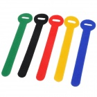 Ultra-thin Velcro Nylon Ethernet Cable Tie - Multicolor (5 PCS)