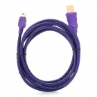 Millionwell 01.0015 USB 2.0 Male to Mini USB Male Data Cable - Purple (1.8m)