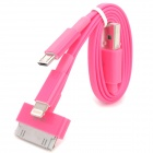 4-in-1 USB-Ladekabel w / 8-Pin Blitz / iPhone 30-Pin / Samsung 30-Pin / Micro USB - Pink