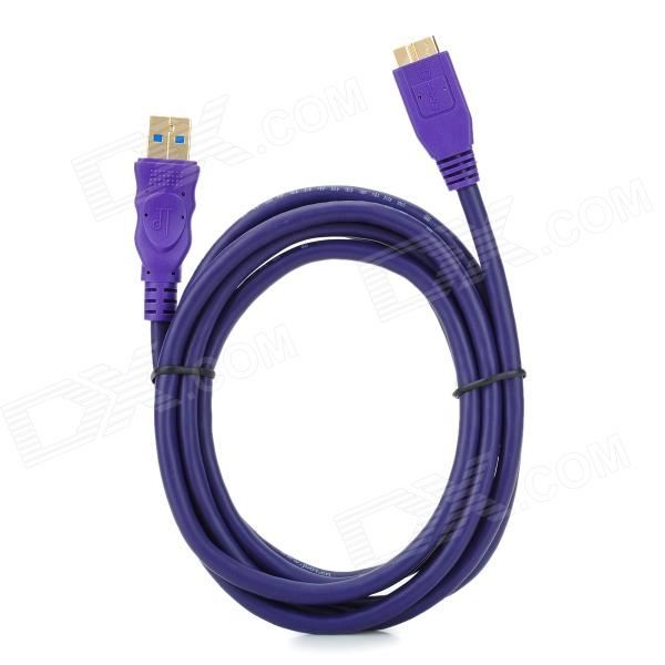 Millionwell 01.0022 Gold-plated USB3.0 AM to Micro B  Download / TB HDD Cable - Purple (1.8M) free shipping nordost odin interconnect usb cable with a to b plated gold connection usb audio digital cable