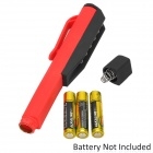 Car Repair / Working 6-LED White Magnetic Flashlight Pen w/ Clip - Red + Black (3 x AAA)