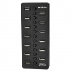 Portable 13 Ports High Speed USB 2.0 Hub w/ Switches - Black