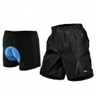 Mountainpeak Cycling Casual Shorts w/ Underwear Set for Men - Black (Size XXL)