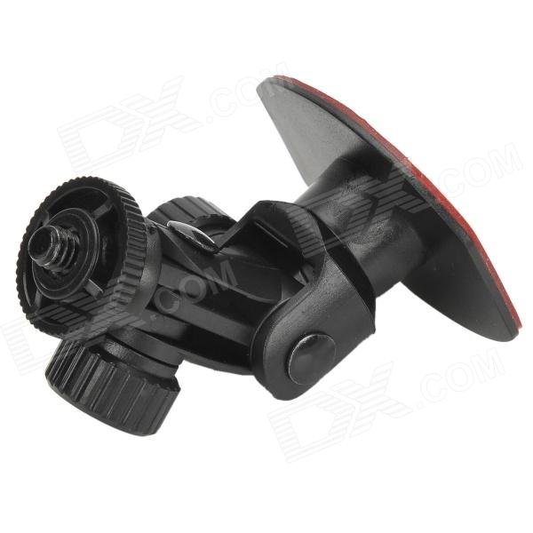 HD-053A 90 Degree Rotational Car Mount Stand w/ 3M Self-Adhesive Tape for Cell Phone / GPS - Black
