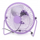 Lileng-819 Mini USB Powered 3-Blade 1-Mode Fan - Purple + Silver + Black
