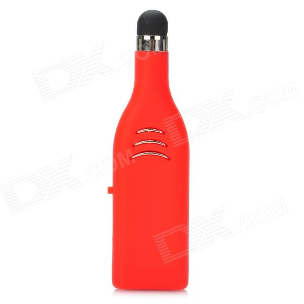 USB-20 Wine Bottle Style USB 2.0 USB Flash Drive w/ Stylus Pen - Red + Silver + Black (4 GB) free shipping high speed usb 3 0 pen drive memory stick flash drive 128gb flash drive memory