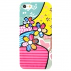 Colorful Flowers Style Protective Plastic Back Case for Iphone 5 - Multicolor