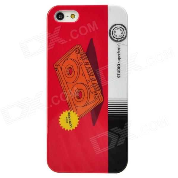 все цены на  Cool Cassette Tape Style Protective Plastic Back Case for Iphone 5 - Red + White + Black + Yellow  онлайн