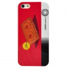 Cool Cassette Tape Style Protective Plastic Back Case for Iphone 5 - Red + White + Black + Yellow