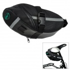 Outdoor Cycling 600D Oxford Fabric Bike Bicycle Saddle / Tail Bag - Black