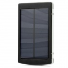 10000mAh 1.5W Compact Universal-Portable Solar Energy Power Bank + 3-in-1 USB-Kabel Set - Schwarz
