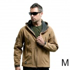 Outdoor Men's Waterproof Windproof Polyester + Spandex Jacket - Brown (Size M)
