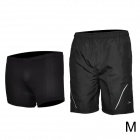 Mountainpeak Cycling Casual Shorts w/ Underwear Set for Men - Black (Size M)