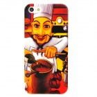 Seasoning Chef Pattern Protective Plastic Back Case for Iphone 5 - Multicolor