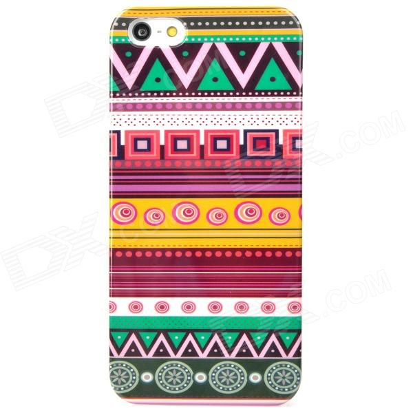 все цены на Ethnic Strap Pattern Protective Plastic Back Case for Iphone 5 - Multicolor онлайн