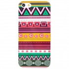 Ethnic Strap Pattern Protective Plastic Back Case for Iphone 5 - Multicolor