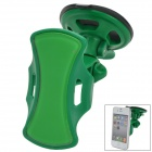 Universal 360 Degree Rotational Car Mount Holder w/ Suction Cup / 3M Sticker for Cell Phone - Green