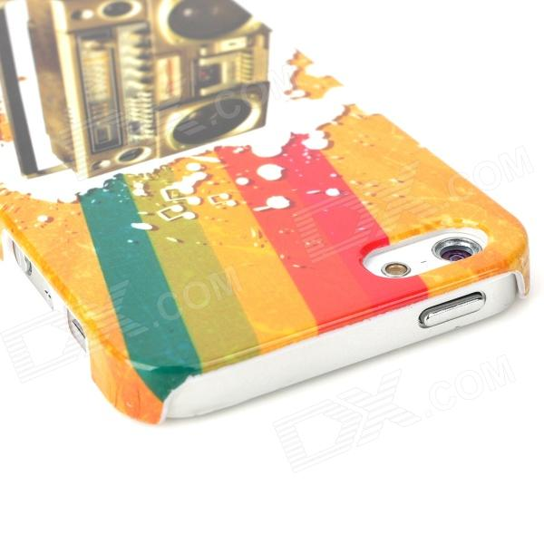 все цены на  Retro Rainbow Cassette Deck Pattern Protective Plastic Back Case for Iphone 5 - Multicolor  онлайн