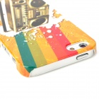 Retro Rainbow Cassette Deck Pattern Protective Plastic Back Case for Iphone 5 - Multicolor