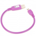 USB 2.0 to Micro USB Data Cable for Samsung i9500 / i9300 + More - Purple (24CM)