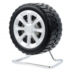 Fashion Tyre Style Mini Portable Stereo Speaker for MP3 / Cellphone / Tablet + More - Black