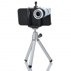8X Long Focus Lens Telescope w/ TrIpod & Back Case for Iphone 5 - White + Black