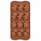 Cute Dinosaur Style 12-Component Ice Chocolate Tray Module - Chocolate