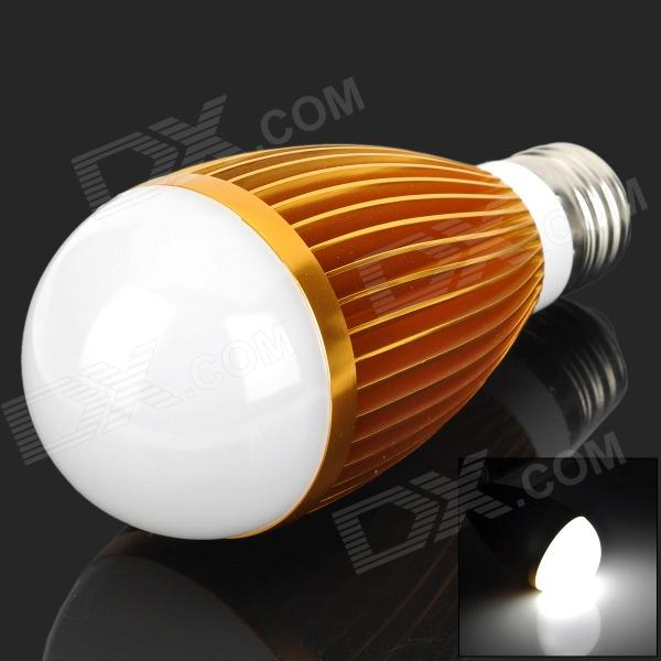 HS01007A  E27 7W 550lm 6300K White Light LED Bulb - Golden