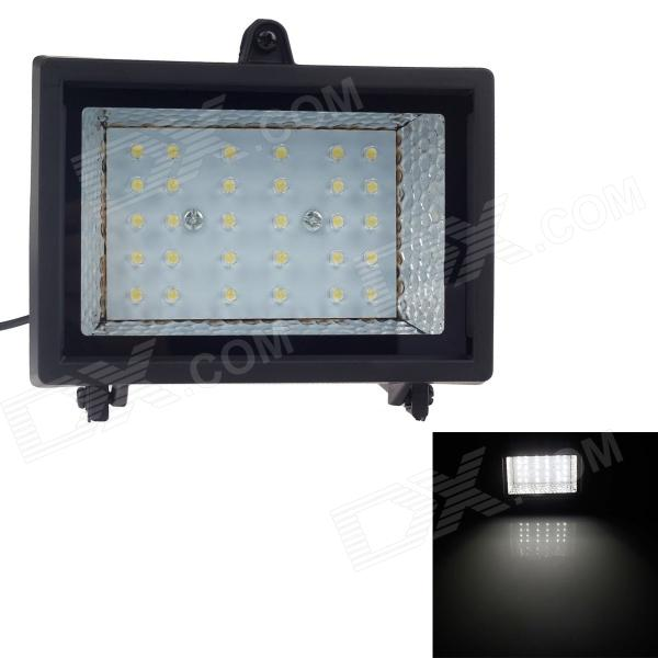 Waterproof Solar 2W 7000K 200lm 30-LED Flood Cool White Light Project Lamp - Black от DX.com INT