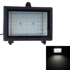 Waterproof Solar 2W 7000K 200lm 30-LED Flood Cool White Light Project Lamp - Black
