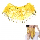 Gauze Veil for Belly Dance - Yellow