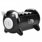 Cute Pig Multifunctional Remote Control Mobile Phone Storage Box Holder - Black + White