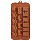 Cute Car Hobbyhorse Style 12-Component Ice Chocolate Tray Module - Chocolate