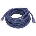 MILLONWELL 01.0026 24K Gold-Plated HDMI 1.4 Male to Male Connection Cable - Purple + Deep Blue (10m)