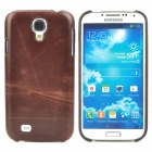 Protective PC + PU Leather Back Case for Samsung Galaxy S4 i9500 - Brown