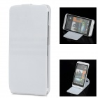 Protective Flip-Open 360 Degree Rotation Case for HTC One M7 801e - White