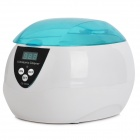 CE-5200A Mini Digital Ultrasonic Cleaner - Blue + White (AC 100~120V / 600ML)