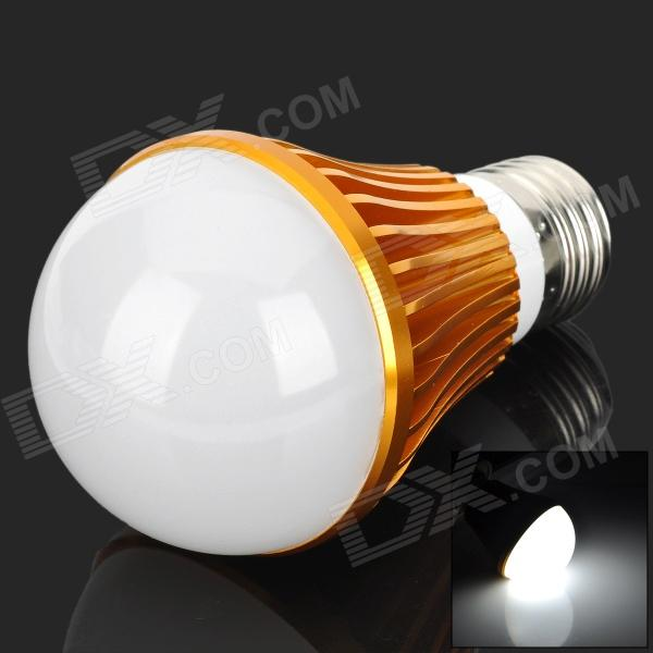 HS01005B E27 5W 490lm 6300K White Light LED Bulb - Golden