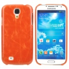 Protective PC + PU Leather Back Case for Samsung Galaxy S4 i9500 - Orange