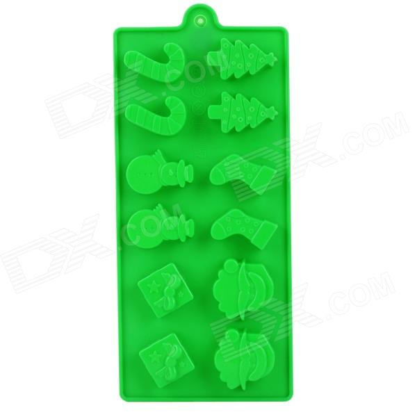 Creative Christmas Style 12-Component Ice Chocolate Tray Module - Green