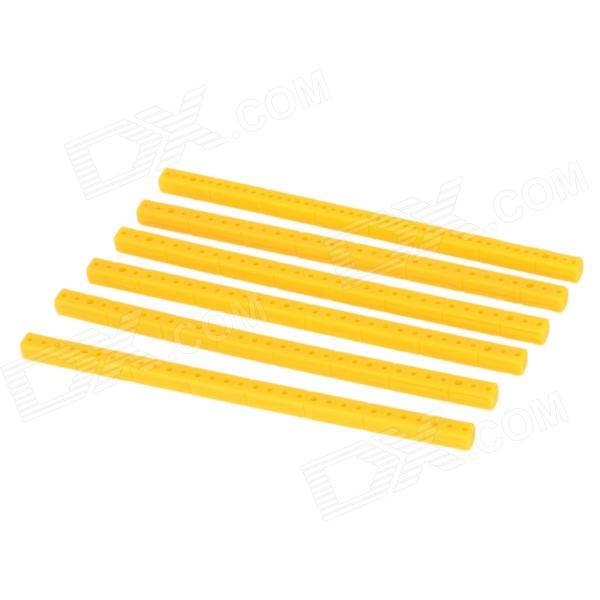 Universal Durable ABS Plastic Sticks for Tamiya model DIY project - Yellow (6 PCS) e cap aluminum 16v 22 2200uf electrolytic capacitors pack for diy project white 9 x 10 pcs