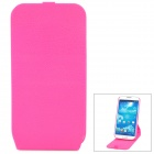Protective Flip-Open 360 Degree Rotation Case for Samsung Galaxy S4 i9500 - Deep Pink