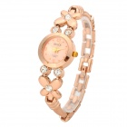 Fashion Stainless Steel Analog Quartz Wrist Watch for Women - Golden
